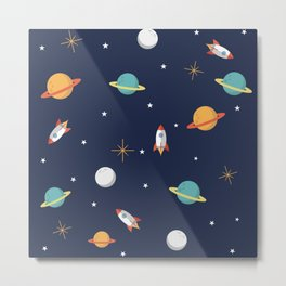 Space Pattern Metal Print