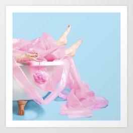 Bubble Wrap Bath Art Print