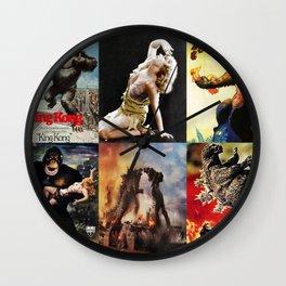 Godzilla vs King Kong, King Kong, poster, Art Wall Clock