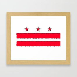 Fancy Flag: Washington, DC    District of Columbia Framed Art Print