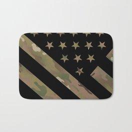 U.S. Flag: Military Camouflage Bath Mat