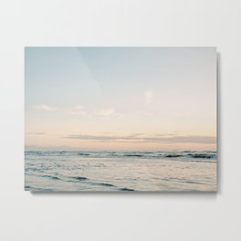 Pretty Pastel Sea | Beach travel photography art print | Soft colored fine art poster Metal Print