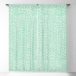 Hand Knit Zoom Mint Blackout Curtain