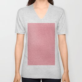 Simply Metallic in Pink Rose Gold Unisex V-Neck