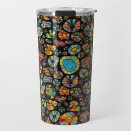 Barca Dots Pattern multicolor/black Travel Mug