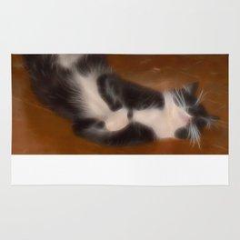 Cute sleeping kitty Rug