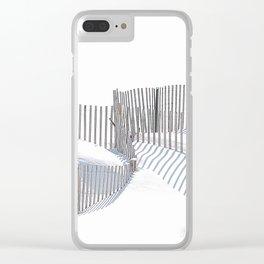 Winter Beach 2015 Clear iPhone Case