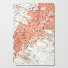 Vintage Map of Jersey City NJ (1955) Cutting Board