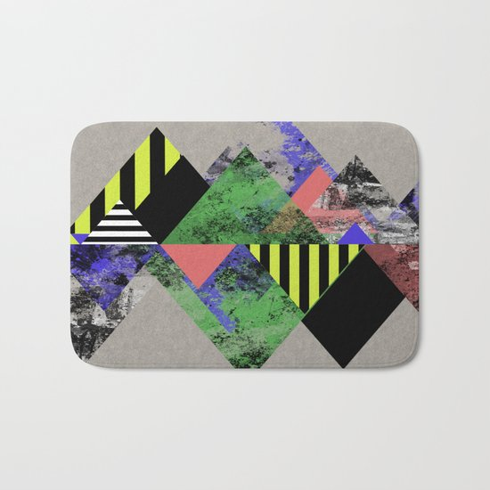 Triangles! Bath Mat
