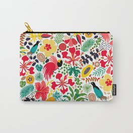 tropical botanical Carry-All Pouch