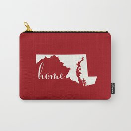 Maryland is Home - Red on White Carry-All Pouch