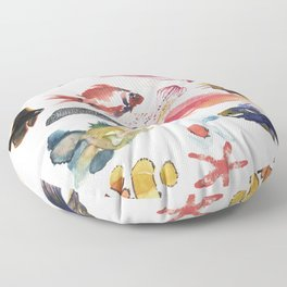 Fishy gathering Floor Pillow