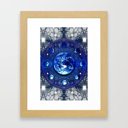 Moon Phases III Framed Art Print