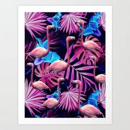Flamingo tropfest Art Print