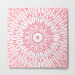 Salmon Pink Kaleidoscope Metal Print