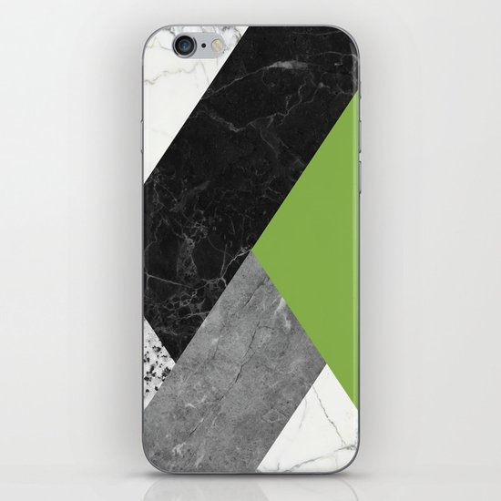 Black and White Marbles and Pantone Greenery Color by calacatta