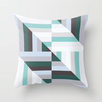 60s Throw Pillows featuring Maze | 60s by Wood + Ink