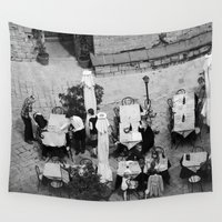 cafe Wall Tapestries featuring Cafe Noir by youngkinderhook