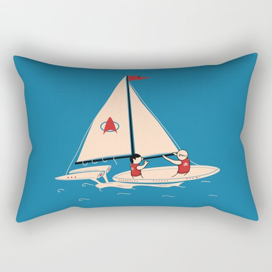Sailing Towards Future Unknowns Rectangular Pillow