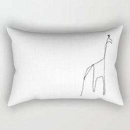 Line Giraffe Rectangular Pillow