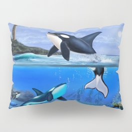 THE ORCA FAMILY Pillow Sham