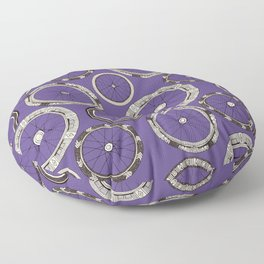 bike wheels violet Floor Pillow