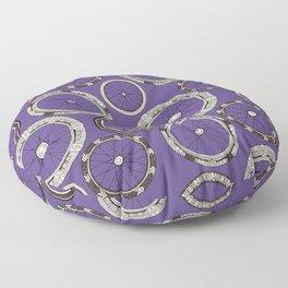 bike wheels violet Floor Pillow