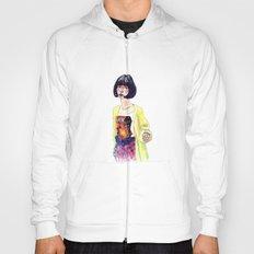 Fashion Illustration . Oriental Girl Hoody