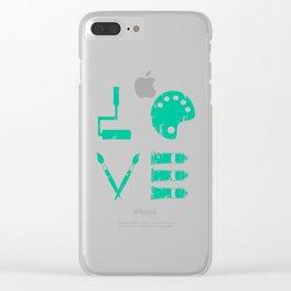 Artist Painter Art Teacher Designer Love Art Tools Gift Clear iPhone Case