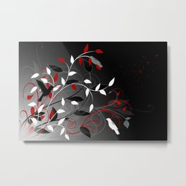 Nature in black, white and red. Metal Print
