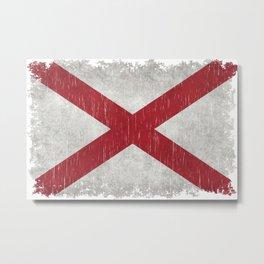 State flag of Alabama - Vintage version Metal Print
