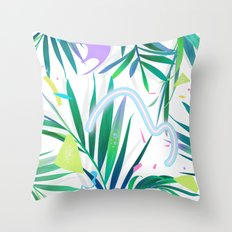 summer motel pattern Throw Pillow