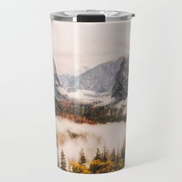 Amazing Yosemite California Forest Waterfall Canyon Travel Mug