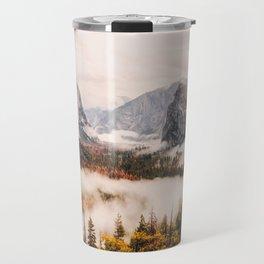 Amazing Yosemite California Forest Waterfall Canyon Travel Mug