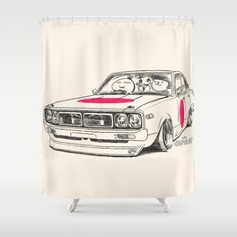 Crazy Car Art 0166 Shower Curtain