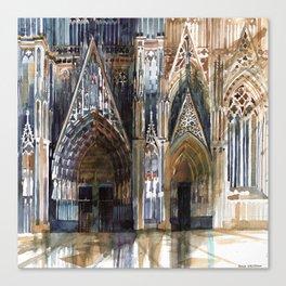 Koln cathedral's facade Canvas Print
