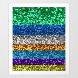 glitter stripes Art Print