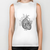 radiohead Biker Tanks featuring RADIOHEAD HEART by Estelle Couraye