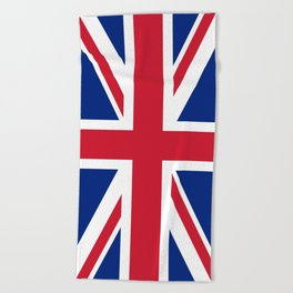 Union Jack, Authentic color and scale 1:2 Beach Towel