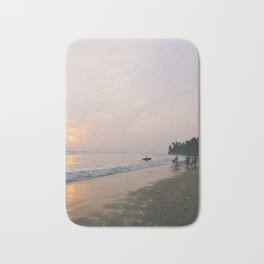 Sunset Surf on Kabalana Beach, Ahangama, Sri Lanka 2 Bath Mat