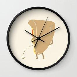 Pee-zza Wall Clock