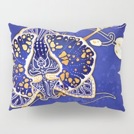 Egyptian Blue :: Orchid Pillow Sham