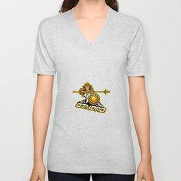 Athena Esport Mascot Logo Design Unisex V-Neck