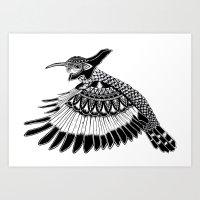 Warrior Hummingbird Art Print