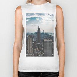 NEW YORK - CITY MANHATTAN - EMPIRE STATE BUILDING - PHOTOGRAPHY Biker Tank