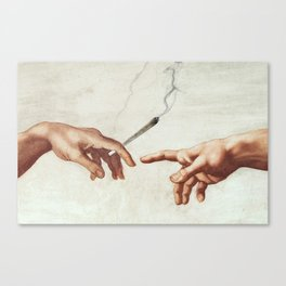 Adam and The God Canvas Print