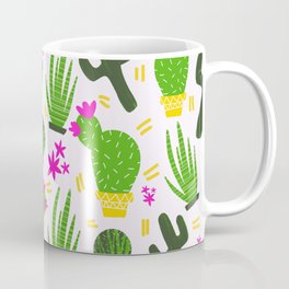 Cactus Pattern of Succulents Coffee Mug