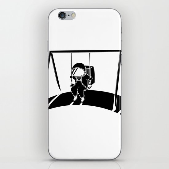 In Space No One Will Push Your Swing iPhone & iPod Skin