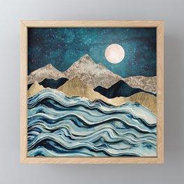 Indigo Sea Framed Mini Art Print