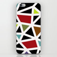 White lines & colors pattern #1 iPhone & iPod Skin